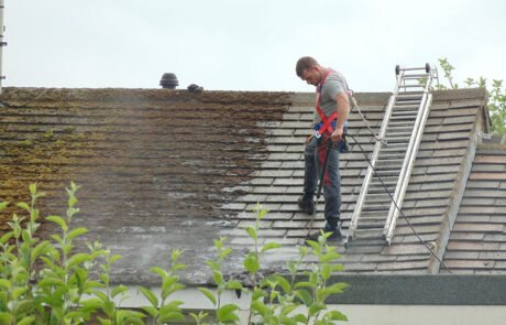Heavy moss cleaning for roofs