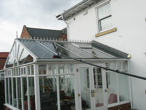 Long reach glass cleaning perfect for conservatories