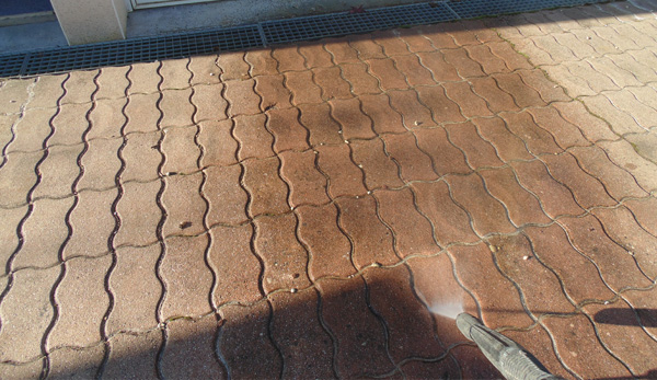 Spray Cleaned Driveway